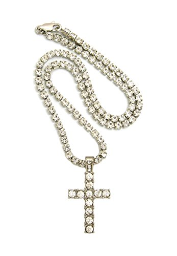 Women's Iced Out Cross Pendant 16