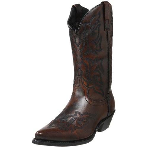 (Laredo Men's Hawk Western Boot,Brown/Gold,12 D US)