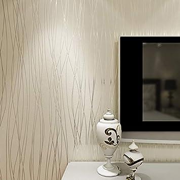 Papel de Pared Moderna for la decoraci/ón del hogar Sala de Estar Dormitorio Color : C WLYZX Color s/ólido del Papel Pintado de la Raya Vertical Tejido 3D no