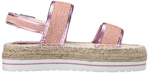 Women's Moschino Platform Pink Sparkle Love Sandal 7ZH8HY