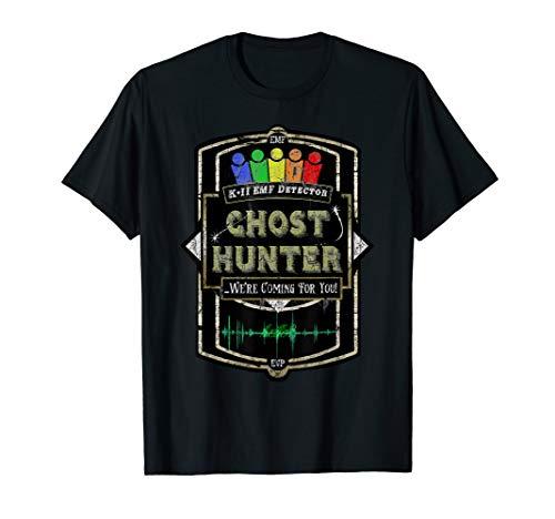 Ghost Hunter Distressed Look EMF Detector T-Shirt