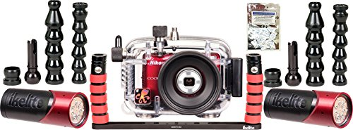 L26, L28 Nikon Underwater Housing by Ikelite 6280.26 w/ Dual Vega Photo/Video Light Package w/ Free Moisture Absorbers