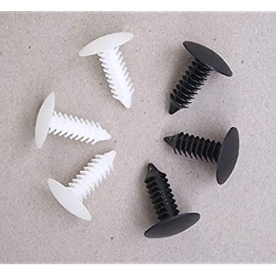 GoodsZone 50 Pack Strapping Webbing Rivets White or Black 3/4