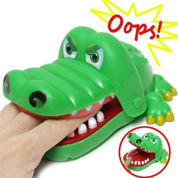 Children Kid Crocodile Mouth Dentist Bite Alligator Tooth Halloween Exciting Finger Game Family Toy by Completestore (Halloween Bite)