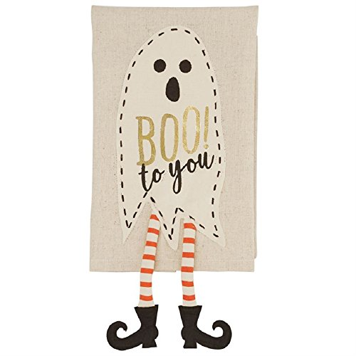Boo to you Ghost Dangle Legs Halloween Linen Towel