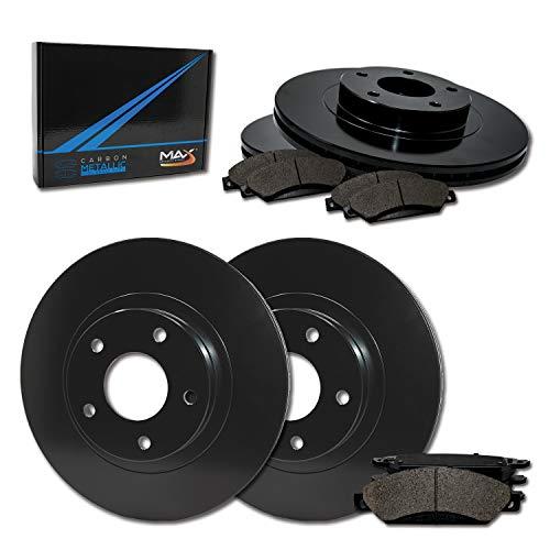 Max Brakes Front & Rear Elite Brake Kit [ E-Coated OE Rotors + Metallic Pads ] TA023203 | Fits: 1999 99 2000 00 2001 01 2002 02 2003 03 VW Passat FWD Models