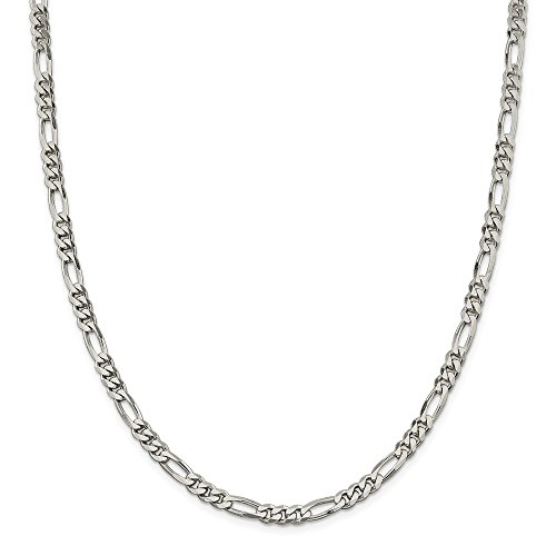 925 Sterling Silver 5.5mm Link Figaro Chain Necklace 18 Inch Pendant Charm Fine Jewelry Gifts For Women For Her