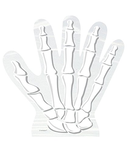 Skeleton Hand Halloween Cellophane Bags, 10ct -