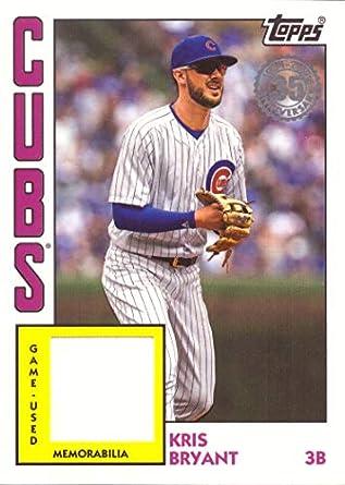 2019 Topps 1984 Relics  84R-KBR Kris Bryant Game Worn Cubs Jersey Baseball  Card 81d66bc2b