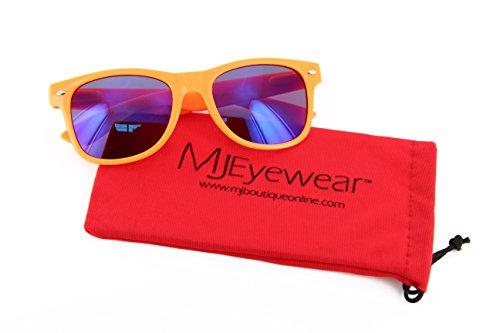 MJ Eyewear Neon Retro Sunglasses Color Mirror Lens