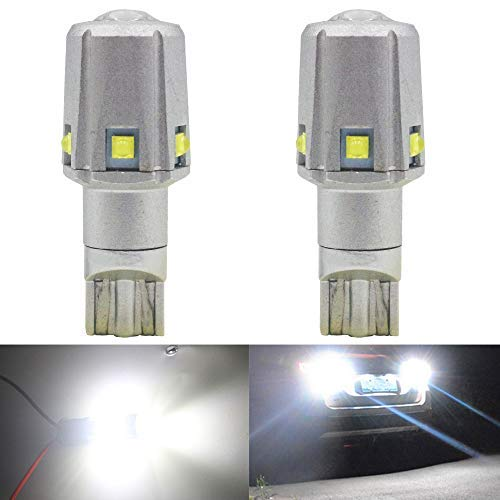 2-Pack 921 912 W16W T15 1500 Lúmenes Conjuntos de Chips CREE Sin Polaridad de 12 V 6SMD Bombillas LED para luz de Reversa de Reserva Tercera Bombilla de ...