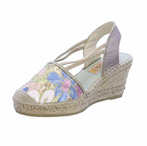 421cf3ed75a7 Vidorreta Women s 18400 Bunt Fashion Sandals Silver metal  Amazon.co ...