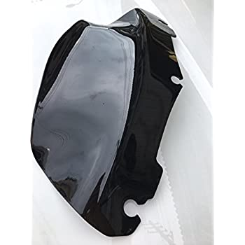 "Black 9"" Wave Windshield For Harley electra Street Glide Touring FLHT FLHTC 2014 2015 2016 2017"