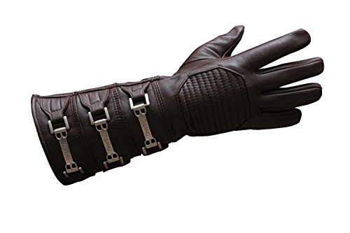 Fingerless Gauntlet - Miracle(Tm) Anakin Skywalker Gauntlet Costume Real Leather Gloves (XX-Large)