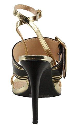 Dbdk Womens Katte-8 Cinturino Alla Caviglia Sandalo Tacco Alto Nero
