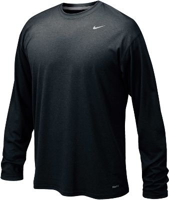 Nike 384408 Legend Dri-Fit Long Sleeve Tee - S Black by Nike (Image #1)