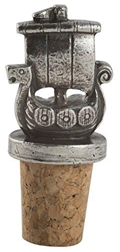 (Viking Ship Pewter Wine Bottle Cork)