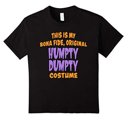 Humpty Dumpty Costume Amazon (Kids Bona Fide Original Humpty Dumpty Costume Last Minute Shirt 12 Black)