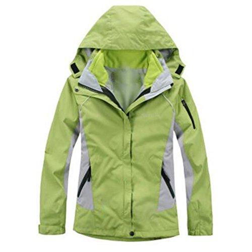 Sci Da Green Alpinismo Pezzi Lai Outdoor Giacche Wu Uno Due Donna Impermeabile In Tre A Spesso RTHwfxv