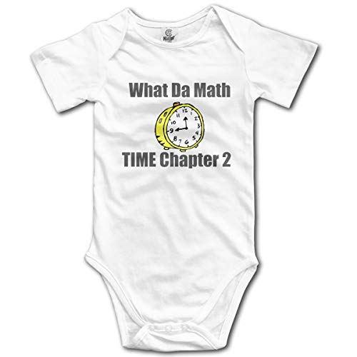 Dejup Unisex Baby Short Sleeve Bodysuits Math Time Chapter Funny Summer Boys Girls Onesies White ()