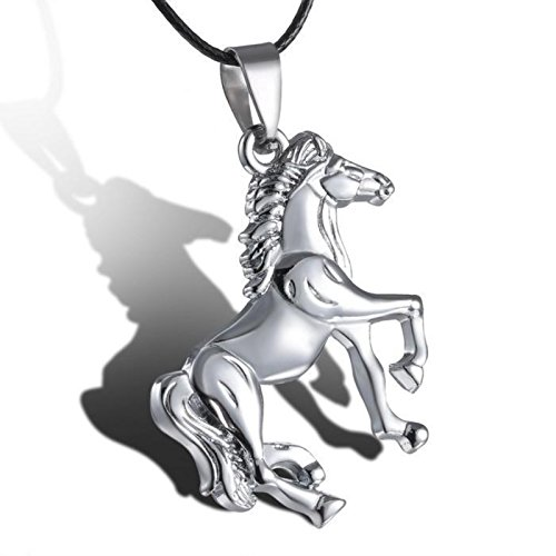 ptk12 Run horse pendant stainless steel pendants necklace personalized animal jewelry for women men by ptk12