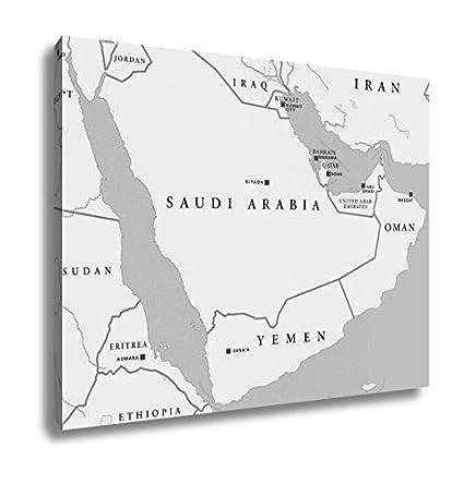 Amazon.com: Ashley Canvas Arabian Peninsula Political Map, Kitchen ...