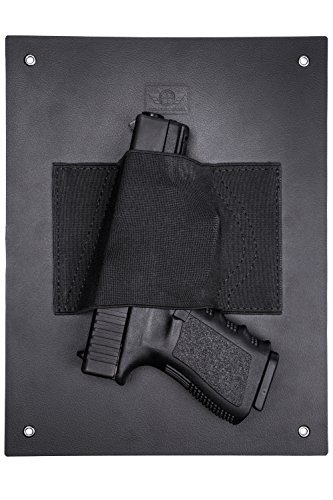 CCW Tactical Hidden Holster Under Desk Gun Holder by Safely Mount a Handgun Almost Anywhere - Holds Nearly Any Size Pistol or Revolver, Taser, Magazine, Flashlight, Ammo or Knife for Fast Draw