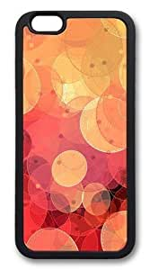 Circle Oval Red Yellow Custom For Iphone 5/5S Case Cover Hard shell Black