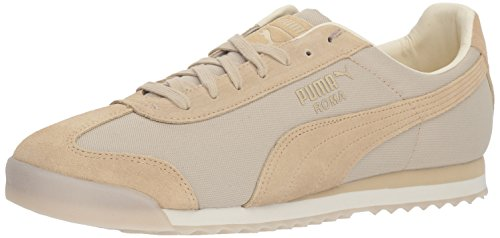 (PUMA Men's Roma Summer Sneaker Pebble-Whisper White 14 M US)