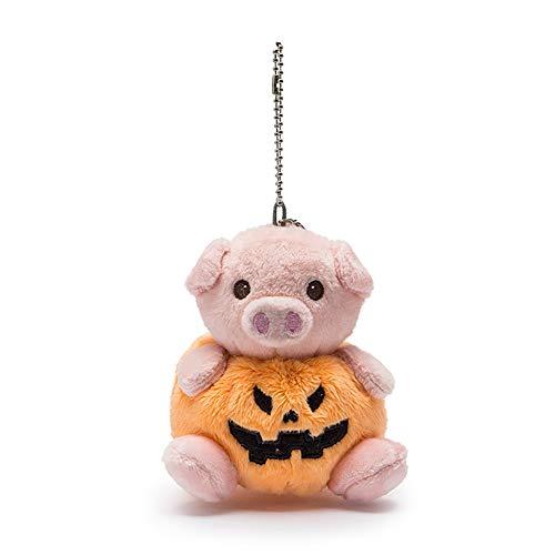 (DierCosy Halloween Mini Pumpkin Bear Plush Doll Pendants Pillow Emoticon Keychain Pumpkin Pendants Handbag Bag Keyrings (1PC Pumpkin Pig) Halloween Decorations )