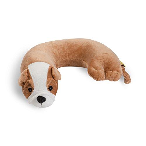 Wolf Critter Piller Kid's Neck Pillow, Brown Bulldog