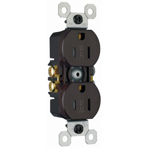 15A 125V 5 Legrand-Pass /& Seymour Pass /& Seymour 3232TRWR Tamper Weather Resist Duplex Recp