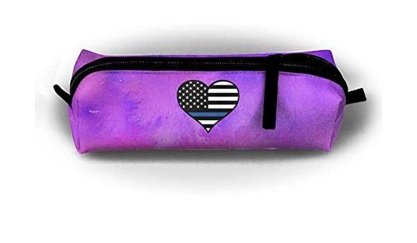 Azul Línea Delgada 20.PNG Estuche para lápices Estuche para lápices Estuche para lápices Estuche con Cremallera Papelería Kit de Costura: Amazon.es: Belleza