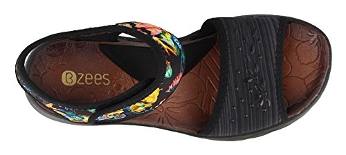 Women's Heel Heather Black Maui Sandals Mid Jemma Pr Linear BZees dt7Pd