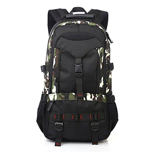 Eaglebeky KAKA Terylene Fabric Backpack for 17-Inch Laptops (Camo)