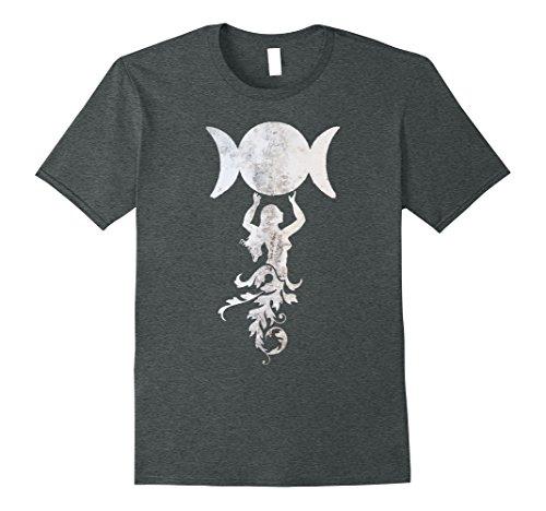 - Mens Triple Moon Goddess Grunge Wicca Magick T-shirt 2XL Dark Heather