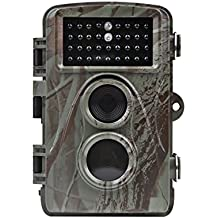 Distianert 12MP 720P Infrared Game&Trail Camera Deer Camera Low Glow Night Vision 65ft Waterproof IP56 with 34pcs 850nm IR LEDs 1 Year