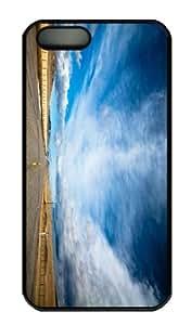 iPhone 5S Case - Customized Unique Design Open Road New Fashion PC Black Hard