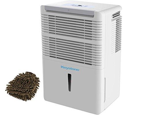 50-pint Keystone KSTAD50B Dehumidifier, Energy Star (Complete Set) w/ Bonus: Premium Microfiber Cleaner Bundle by Keystone