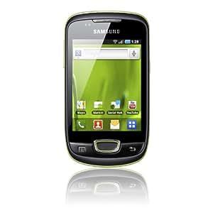 """Samsung S5570i Galaxy Mini - Smartphone libre Android (pantalla táctil de 3,14"""" 240 x 320, cámara 3 Mp, 160 MB de capacidad, procesador de 832 MHz) color negro y verde"""