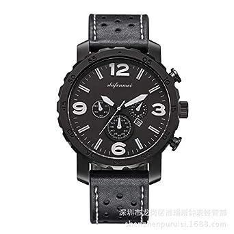 HWCOO Hermosos Relojes De Madera Brasil SHIFENMEI Cinturón de Reloj de Cuarzo para Hombre Fósil (Color : 1): Amazon.es: Relojes