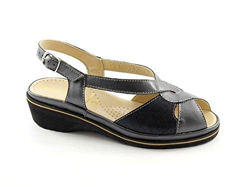 CINZIA SUAVE sandalias de seda perla 993 MARY mujer luz comodidad anatómica Grigio