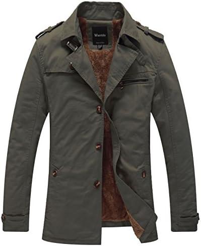 [Sponsored] Wantdo Men's Cotton Turn Down Jacket with Fleece