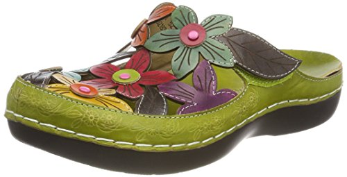 Laura Vita Damen Billy 52 Clogs Grün (Vert)