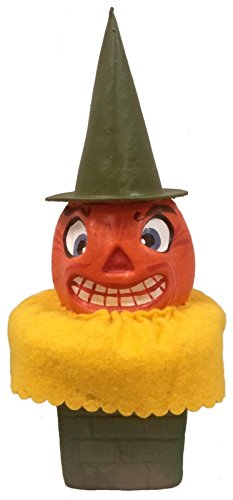 Pinnacle Peak Trading Company Ino Schaller Pumpkin Head in Chimney German Halloween Paper -