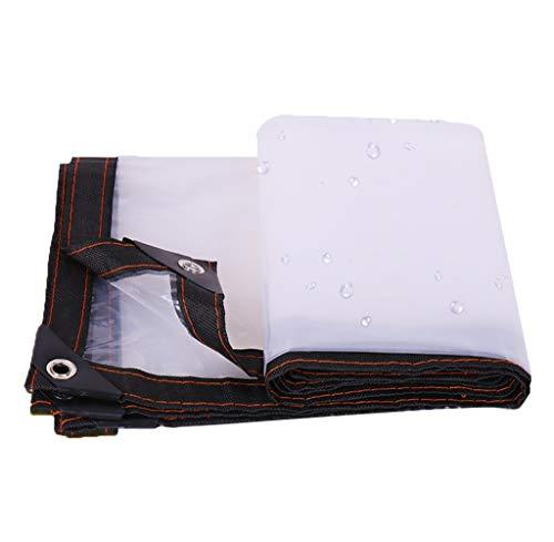 サービス凶暴な観客JIANFEI オーニング 防水耐寒性透明な耐摩耗性、PVC 23サイズカスタマイズ可能 (色 : クリア, サイズ さいず : 4x4m)