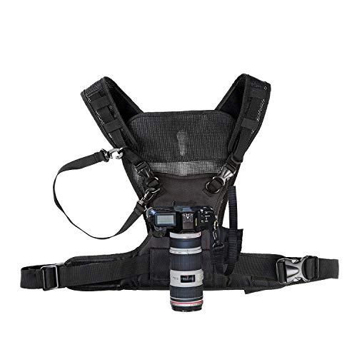 - Nicama Camera Carrying Chest Harness Vest with Secure Straps Compatible with 1 Camera Canon Nikon Sony Panasonic Olympus DSLR