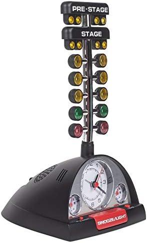 Drag Race Christmas Tree Alarm Clock w//Batteries DRC15RB Analog White Face