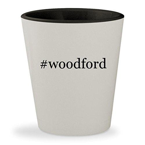 Mike & Chris Bib (#woodford - Hashtag White Outer & Black Inner Ceramic 1.5oz Shot Glass)