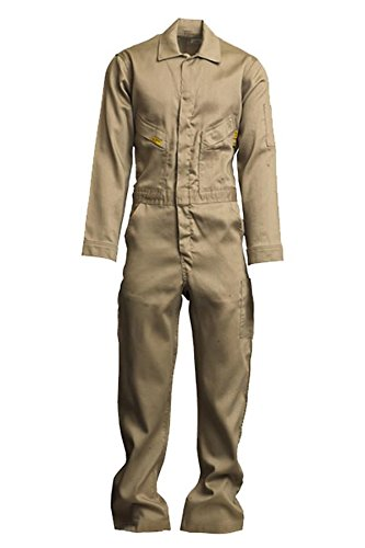 Lapco FR GOCLW6KH-56-TL Flame Resistant Light Weight Deluxe Coveralls, Tall, Khaki Builders World Wholesale Distribution - BISS